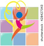 sport icon for gymnastics with... | Shutterstock .eps vector #428427343