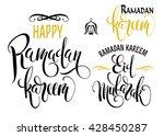 ramadan kareem. eid mubarak.... | Shutterstock .eps vector #428450287