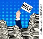 hand of caucasian businessman...   Shutterstock .eps vector #428456647