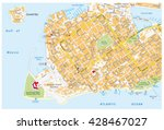 key west road map with road... | Shutterstock .eps vector #428467027