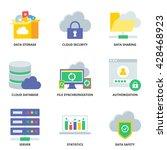 cloud computing vector icons... | Shutterstock .eps vector #428468923