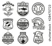 College Athletic Vector Labels...
