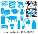 milk icons collection  lactose... | Shutterstock .eps vector #428470753