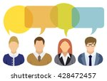 business people and speech... | Shutterstock .eps vector #428472457