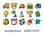 school and education icons set... | Shutterstock .eps vector #428474707