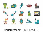 beauty and make up icons set... | Shutterstock .eps vector #428476117