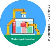 marketing automation vector | Shutterstock .eps vector #428478433