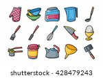 kitchen and cooking icons set... | Shutterstock .eps vector #428479243