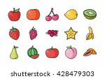 fruits and vegetables icons set ... | Shutterstock .eps vector #428479303
