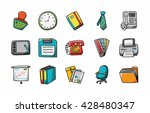 business and office icons set... | Shutterstock .eps vector #428480347