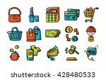 shopping icons set eps10 | Shutterstock .eps vector #428480533