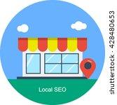 local seo vector | Shutterstock .eps vector #428480653