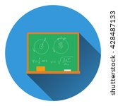 flat design icon of classroom...