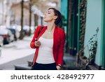 spectacular young brunette... | Shutterstock . vector #428492977