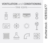 ventilation and conditioning.... | Shutterstock .eps vector #428501677