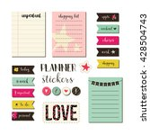 planner stickers. signs ... | Shutterstock .eps vector #428504743