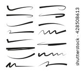 collection of hand drawn lines  ... | Shutterstock .eps vector #428508613