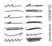 collection of hand drawn lines  ... | Shutterstock .eps vector #428508733