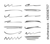 collection of hand drawn lines  ... | Shutterstock .eps vector #428508757