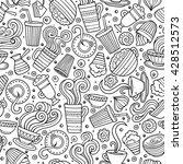 cartoon hand drawn coffee  tea...   Shutterstock .eps vector #428512573