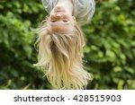 Portrait Of Happy Little Blond...
