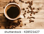 Coffee Beans And Coffee Cup...