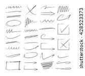 arrows check marks underlines... | Shutterstock .eps vector #428523373