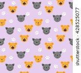 vector flat seamless pattern  ...   Shutterstock .eps vector #428525077