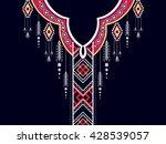 geometric ethnic oriental... | Shutterstock .eps vector #428539057