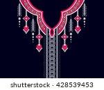 geometric ethnic oriental... | Shutterstock .eps vector #428539453