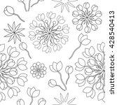 seamless ornamental floral...   Shutterstock .eps vector #428540413