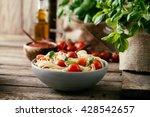 italian cuisine. pasta with... | Shutterstock . vector #428542657