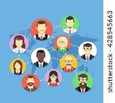 worldwide communication. social ... | Shutterstock .eps vector #428545663
