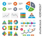 data pie chart and graphs.... | Shutterstock .eps vector #428548267