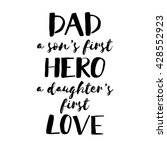 fathers day inspirational... | Shutterstock .eps vector #428552923
