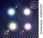 beautiful glowing lens flare... | Shutterstock .eps vector #428555287