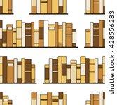 bookshelves hand drawn vector.... | Shutterstock .eps vector #428556283