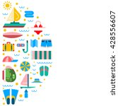 summer icon outline set for... | Shutterstock .eps vector #428556607