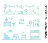set of elements for baby room... | Shutterstock .eps vector #428556637