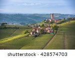 panorama of piedmont vineyards... | Shutterstock . vector #428574703