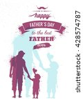 happy fathers day flyer  banner ... | Shutterstock .eps vector #428574787