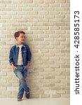 full length portrait of stylish ... | Shutterstock . vector #428585173