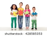 full length portrait of cute... | Shutterstock . vector #428585353