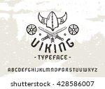 sanserif font in historical... | Shutterstock .eps vector #428586007