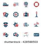 cruise web icons for user... | Shutterstock .eps vector #428588503