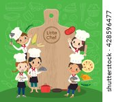 group of young chef with... | Shutterstock .eps vector #428596477
