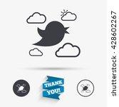 bird icon. social media sign.... | Shutterstock .eps vector #428602267