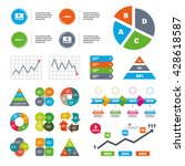 data pie chart and graphs. back ...