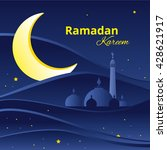 ramadan greetings background.... | Shutterstock .eps vector #428621917