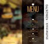 restaurant menu design. vector... | Shutterstock .eps vector #428628793